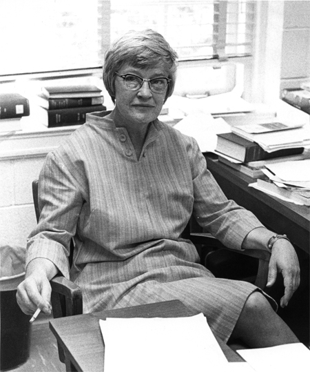 Dr. Elizabeth Phillips in her office, in the mid-1970s