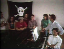 The Macintosh team, pirates all.