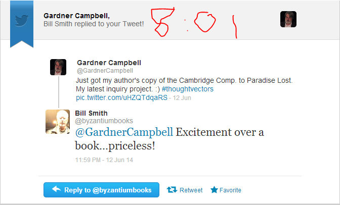 bill smith tweets re cambridge companion