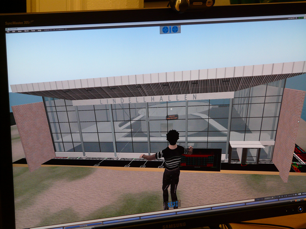 Lindellhallen, Humlab, Umea University, Sweden, Second Life