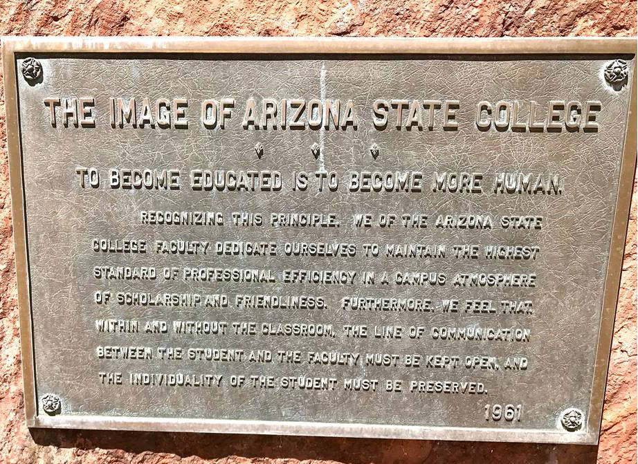 1961 mission statement, Arizona State College